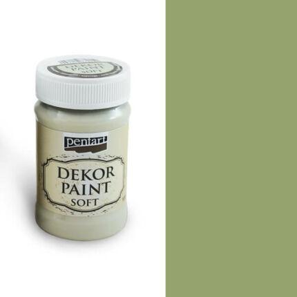 Pentart Dekor Paint Soft, 100 ml - olíva