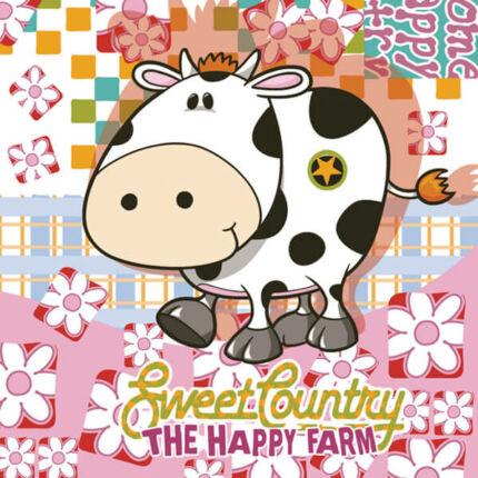 Szalvéta - Happy farm (kk)