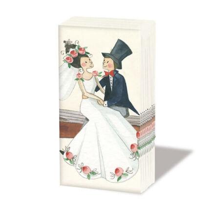 Papírzsebkendő csomag - Esküvő
