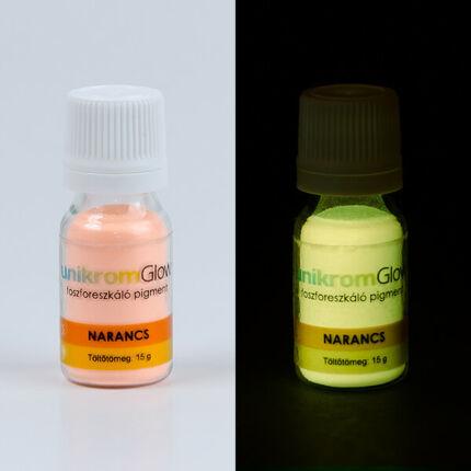 UnikromGlow világító pigment, 15 g - narancs