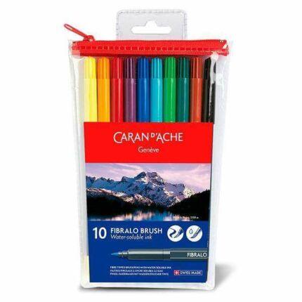 Caran d'Ache Fibralo Brush Pen ecsetfilc készlet - 10 db