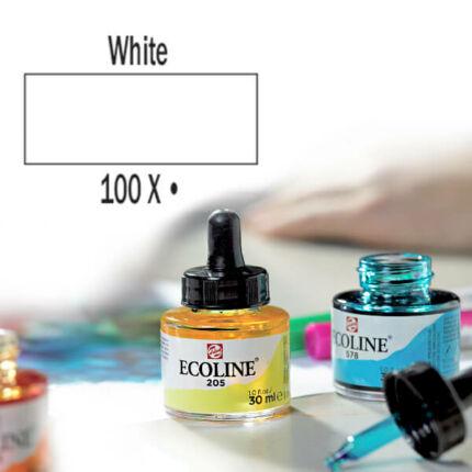 Talens Ecoline folyékony akvarell festék, 30 ml - 100, white