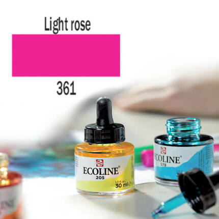 Ecoline akvarellfesték koncentrátum, 30 ml - 361, light rose