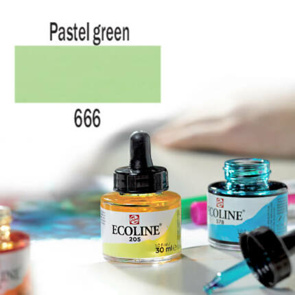 Ecoline akvarellfesték koncentrátum, 30 ml - 666, pastel green