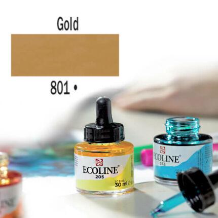 Ecoline akvarellfesték koncentrátum, 30 ml - 801, gold