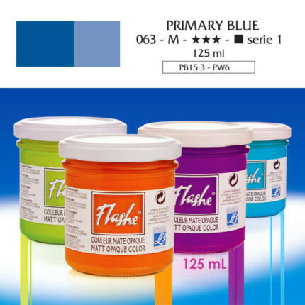 Flashe akrilfesték, 125 ml - 063, primary blue