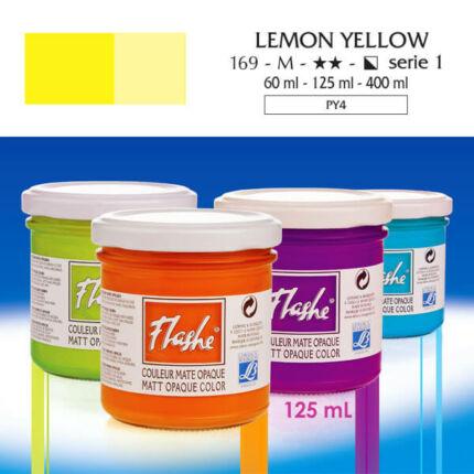 Flashe akrilfesték, 125 ml - 169, lemon yellow