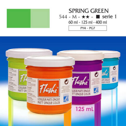 Flashe akrilfesték, 125 ml - 544, spring green