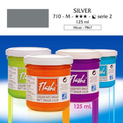 Flashe akrilfesték, 125 ml - 710, silver