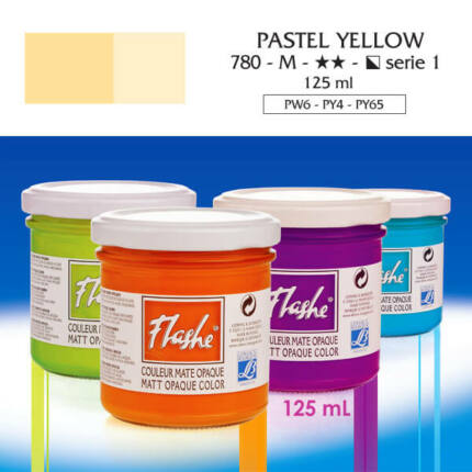Flashe akrilfesték, 125 ml - 780, pastel yellow