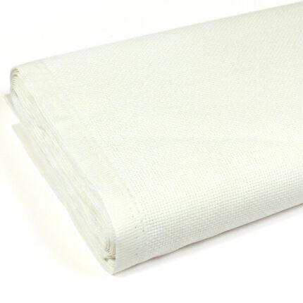 Kongré, Aida keresztszemes hímzővászon, 14 count, 160 cm széles - fehér