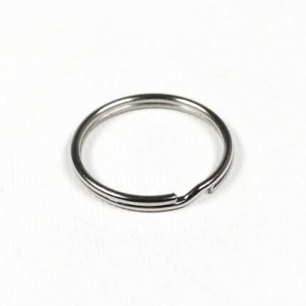 Kulcskarika 25 mm sima ezüst
