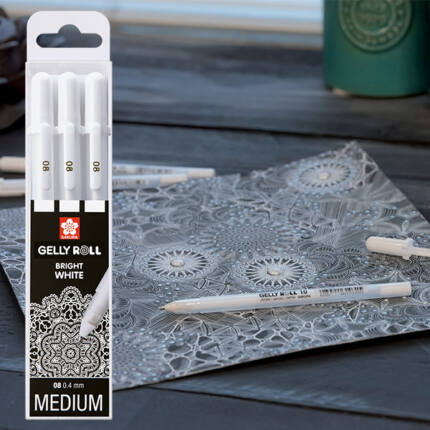 Sakura Gelly Roll zselés toll készlet, 3 db - Real Whites 08