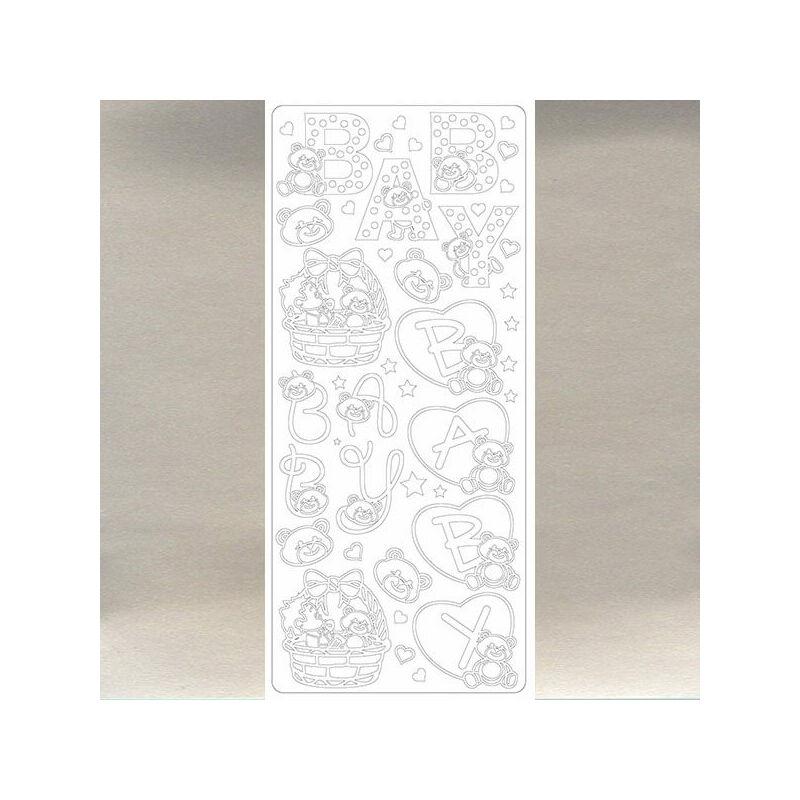 Kontúrmatrica - baby, ezüst, 0101 - AKCIÓS