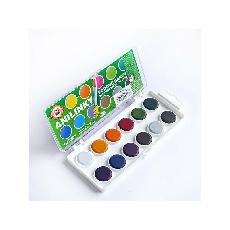 KOH-I-NOOR Brilliant Watercolours (Anilinky) vízfesték készlet - 12 db