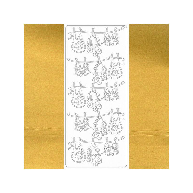 Kontúrmatrica - babaruhák, arany, 0015  - AKCIÓS