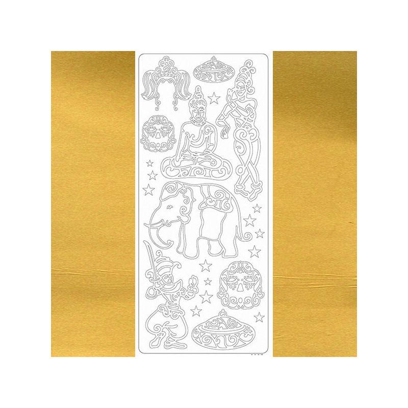 Kontúrmatrica - thaiföld, arany, 0027  - AKCIÓS