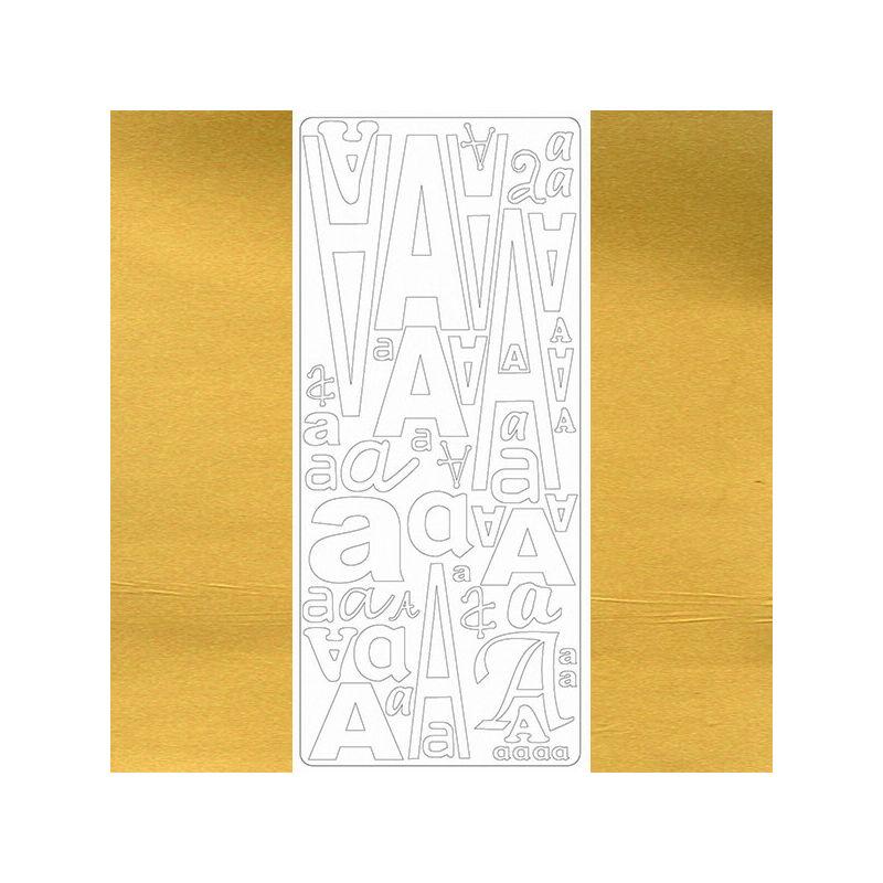 Kontúrmatrica - betű, A, arany, 0233  - AKCIÓS