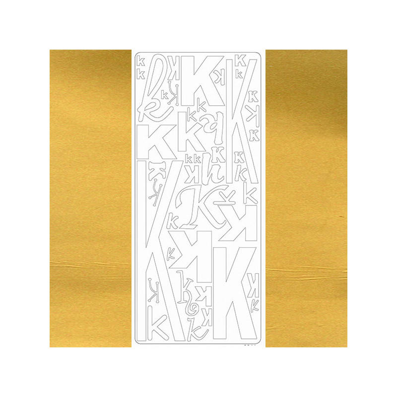 Kontúrmatrica - betű, K, arany, 0241  - AKCIÓS