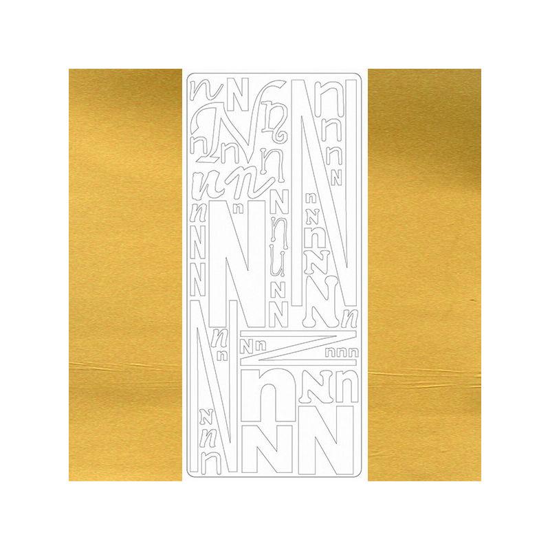 Kontúrmatrica - betű, N, arany, 0244  - AKCIÓS