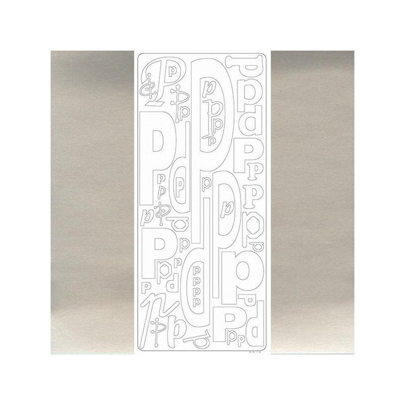 Kontúrmatrica - betű, P, ezüst, 0246  - AKCIÓS