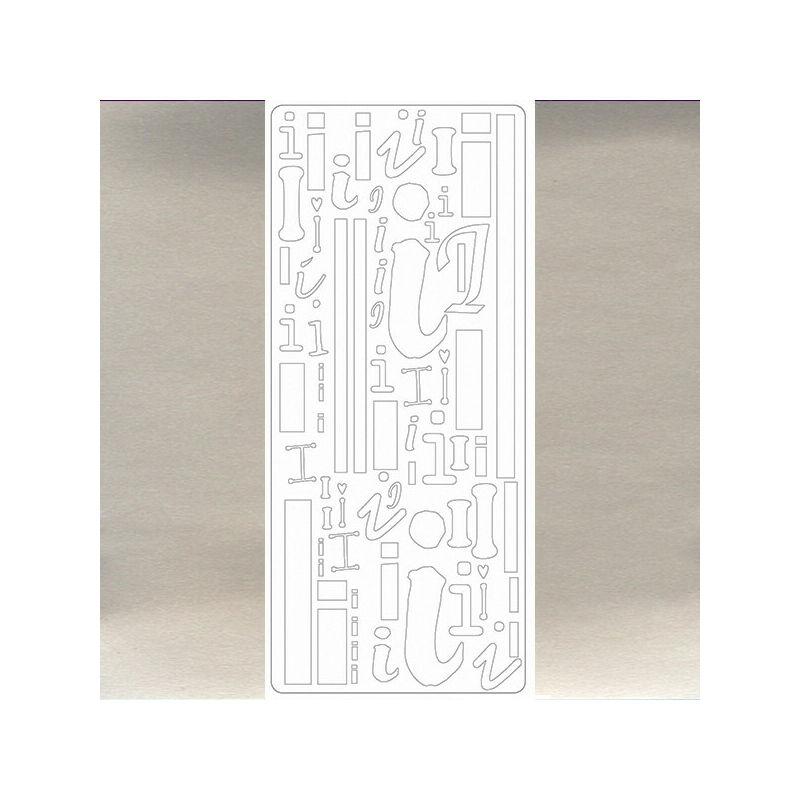 Kontúrmatrica - betű, I, ezüst, 0270  - AKCIÓS
