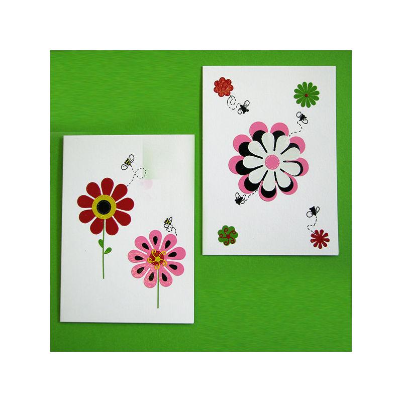 Kontúrmatrica - virág, 3D, rózsaszín, 0400  - AKCIÓS