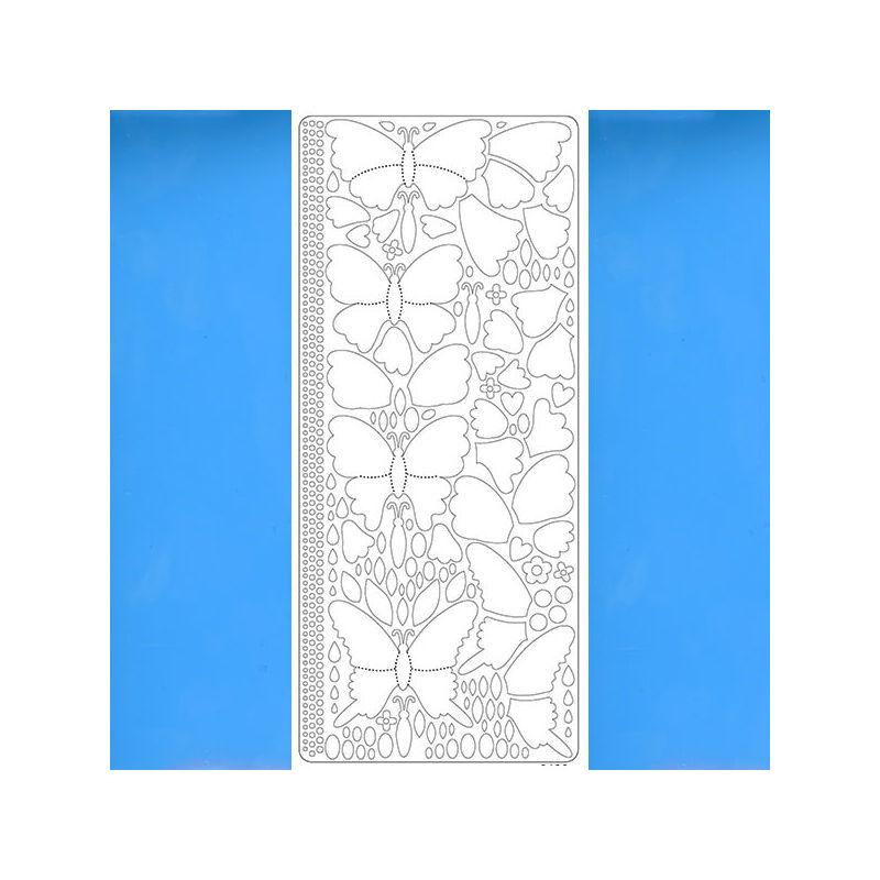 Kontúrmatrica - 3D pillangók, világoskék, 0426  - AKCIÓS