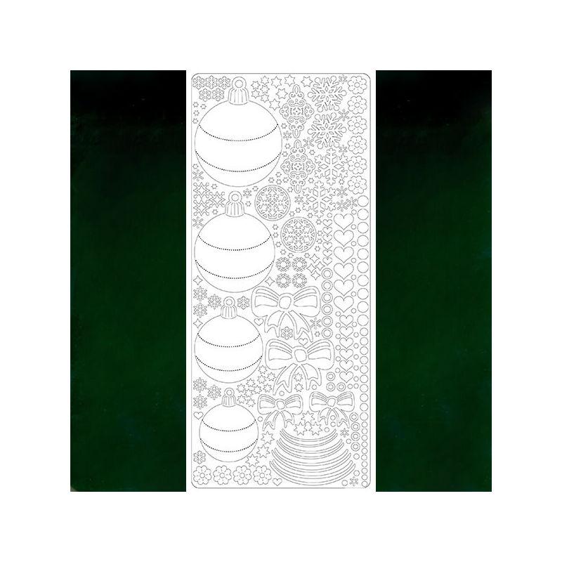 Kontúrmatrica - gömbdíszek, sötétzöld, 0433 - AKCIÓS