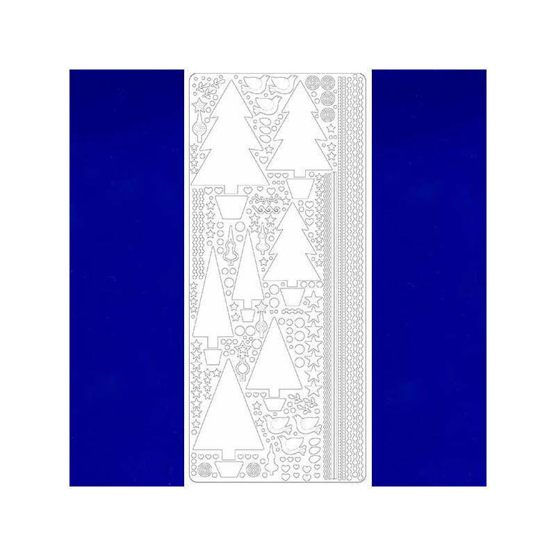 Kontúrmatrica - fenyőfák, sötétkék, 0435 - AKCIÓS