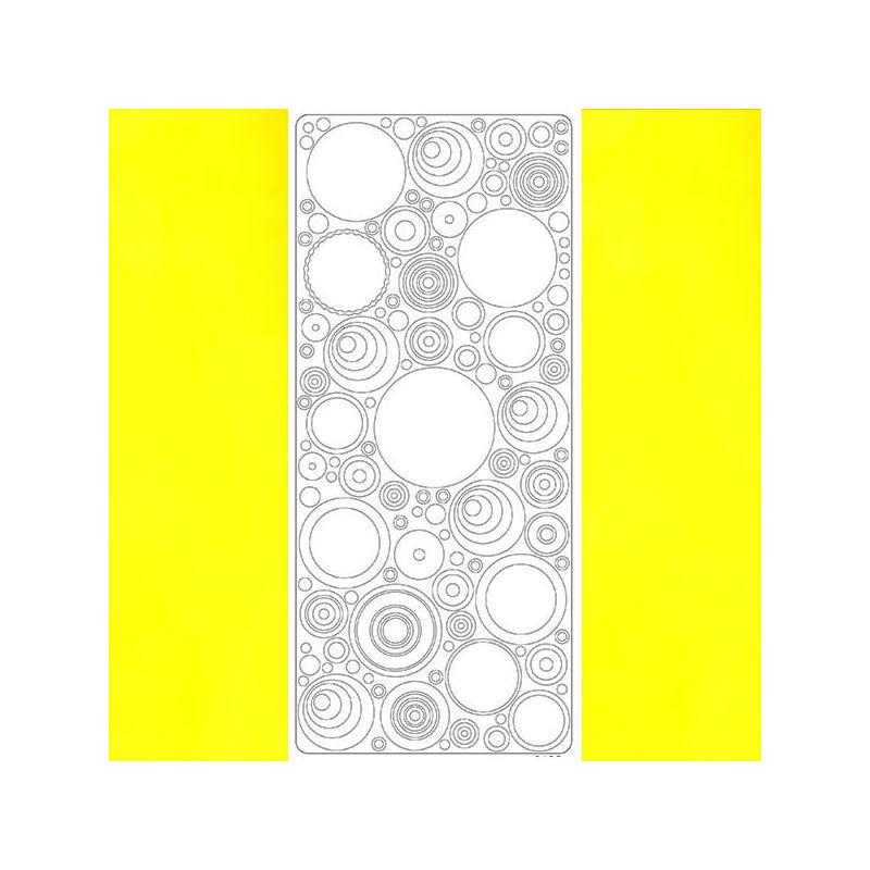 Kontúrmatrica - retró körök, sárga, 0495  - AKCIÓS