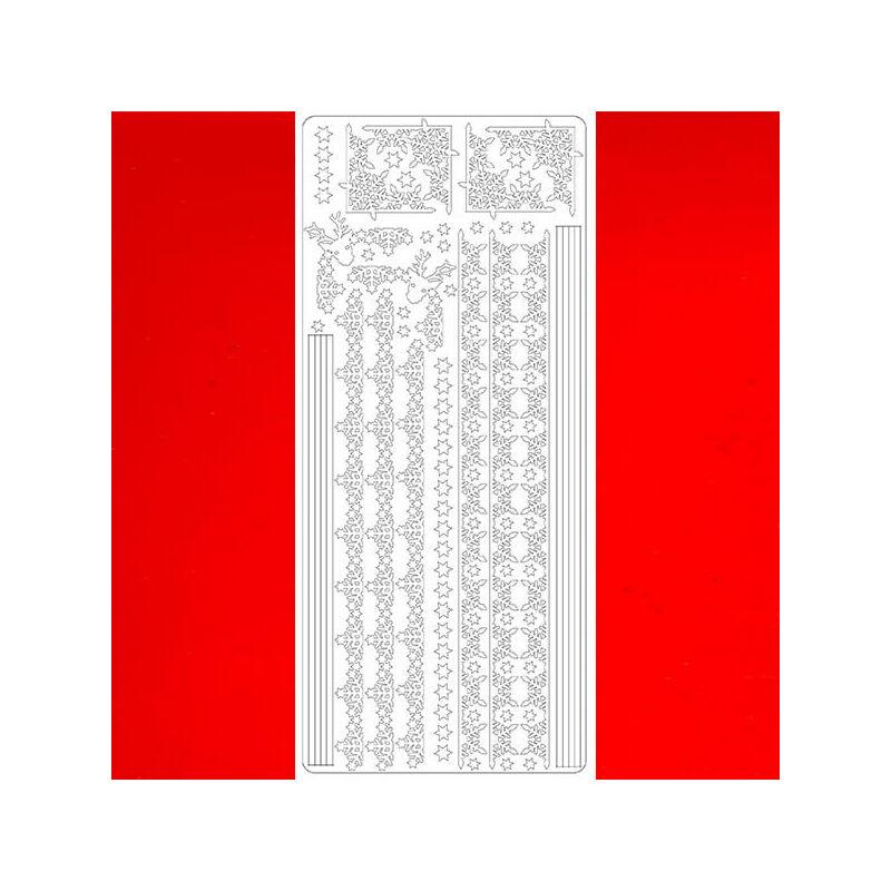 Kontúrmatrica - hókristály sor, piros, 2382 - AKCIÓS