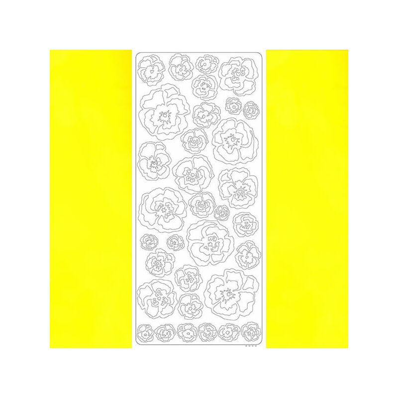 Kontúrmatrica - árvácska, sárga, 2500  - AKCIÓS
