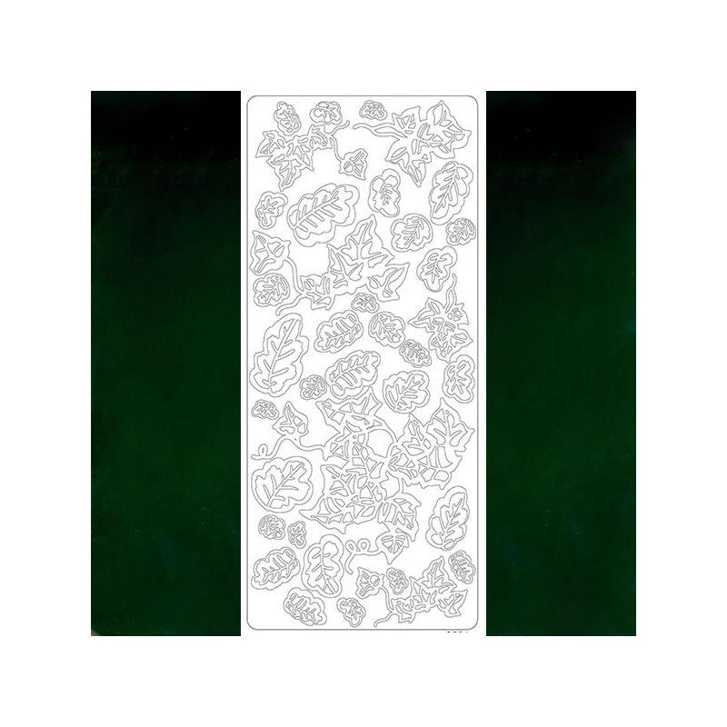 Kontúrmatrica - levél, sötétzöld, 2501 - AKCIÓS