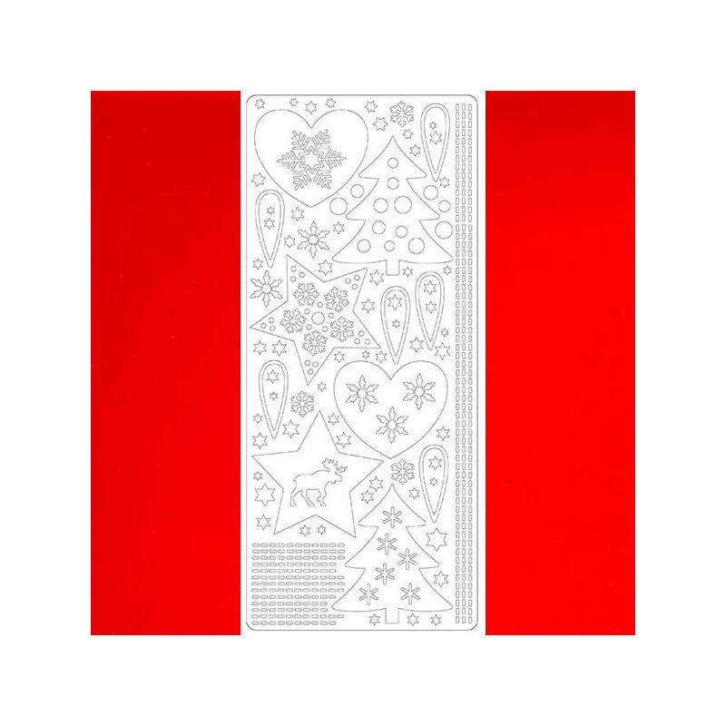 Kontúrmatrica - karácsonyi motívumok, piros, 2585 - AKCIÓS