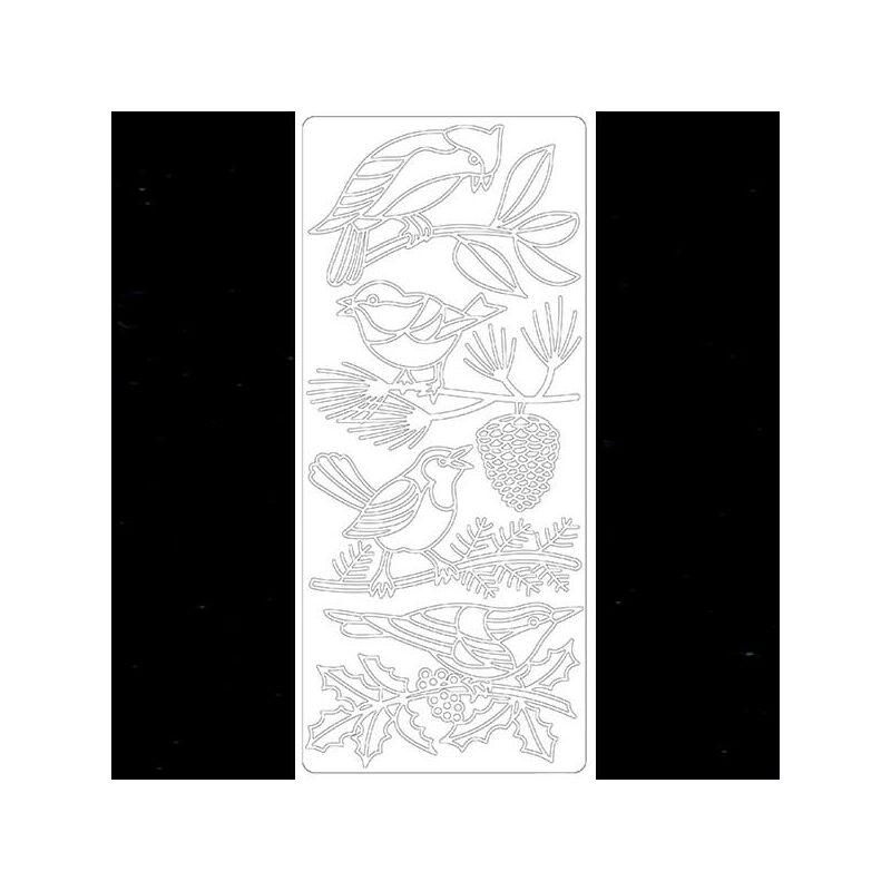 Kontúrmatrica - téli madár, fekete, 2588 - AKCIÓS