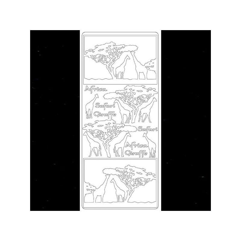Kontúrmatrica - zsiráf, fekete, 2830  - AKCIÓS