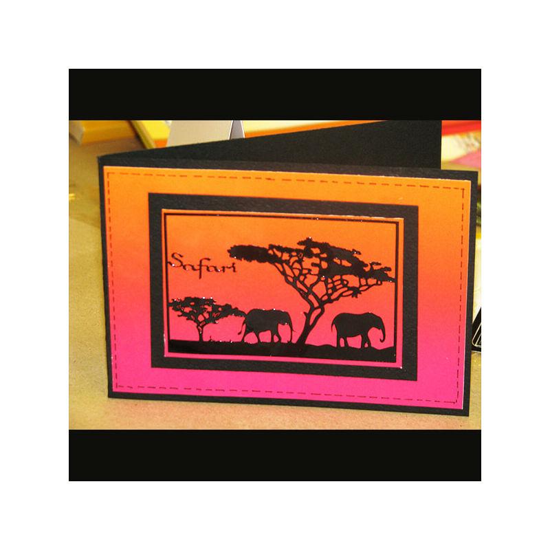 Kontúrmatrica - elefánt, arany, 2831  - AKCIÓS