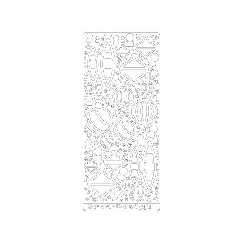 Kontúrmatrica - variálható karácsonyi díszek, fehér, 4048 - AKCIÓS