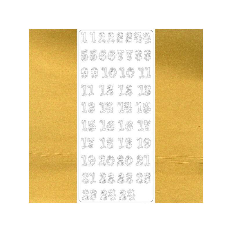 Kontúrmatrica - adventi számok, arany, 4114  - AKCIÓS
