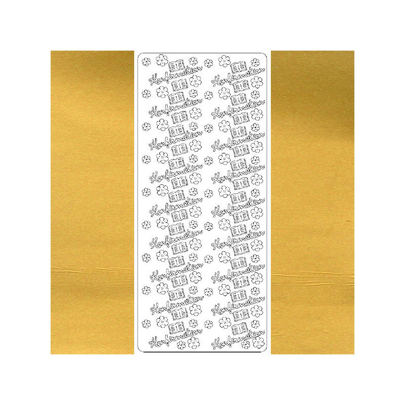 Kontúrmatrica - konfirmation, angol, arany, 7012  - AKCIÓS