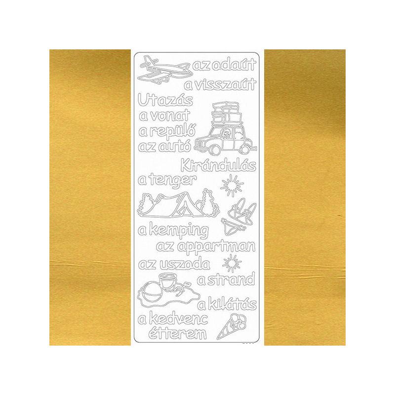 Kontúrmatrica - utazás, arany, 7923  - AKCIÓS