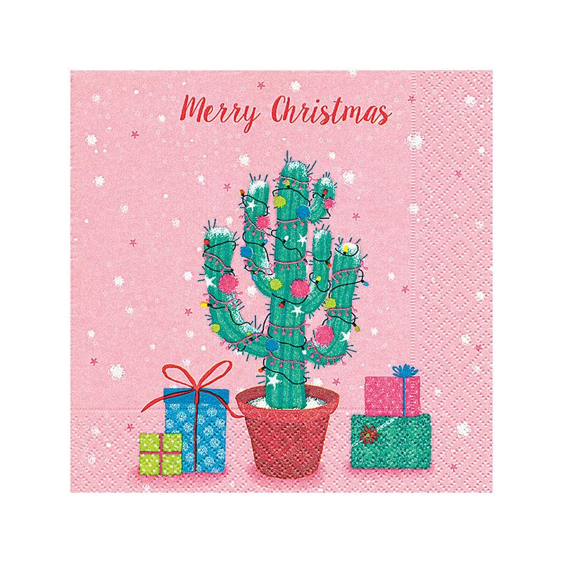 Szalvéta csomagban - Kaktusz karácsonyfa