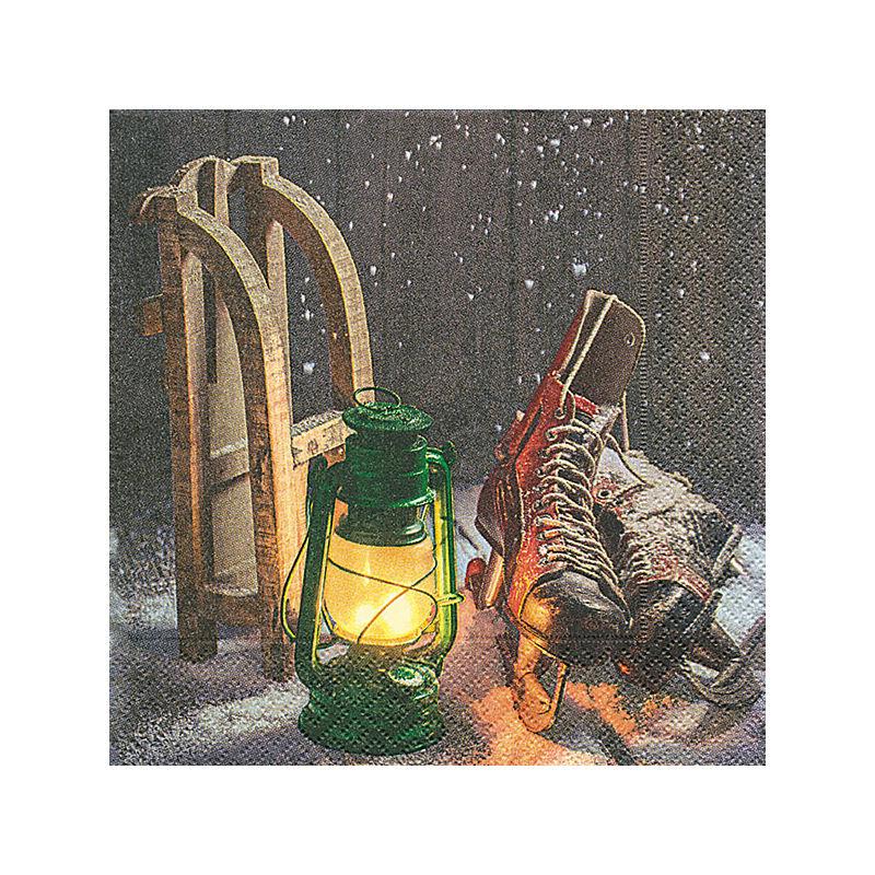 Szalvéta csomagban - Fa szánkó
