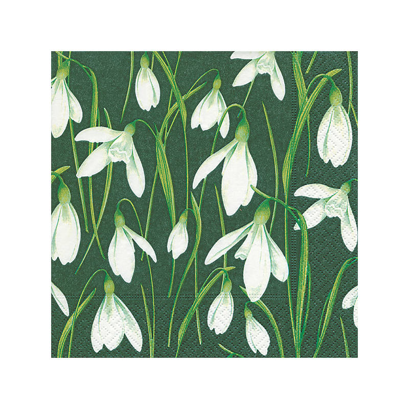 Szalvéta csomagban - Festett hóvirágok