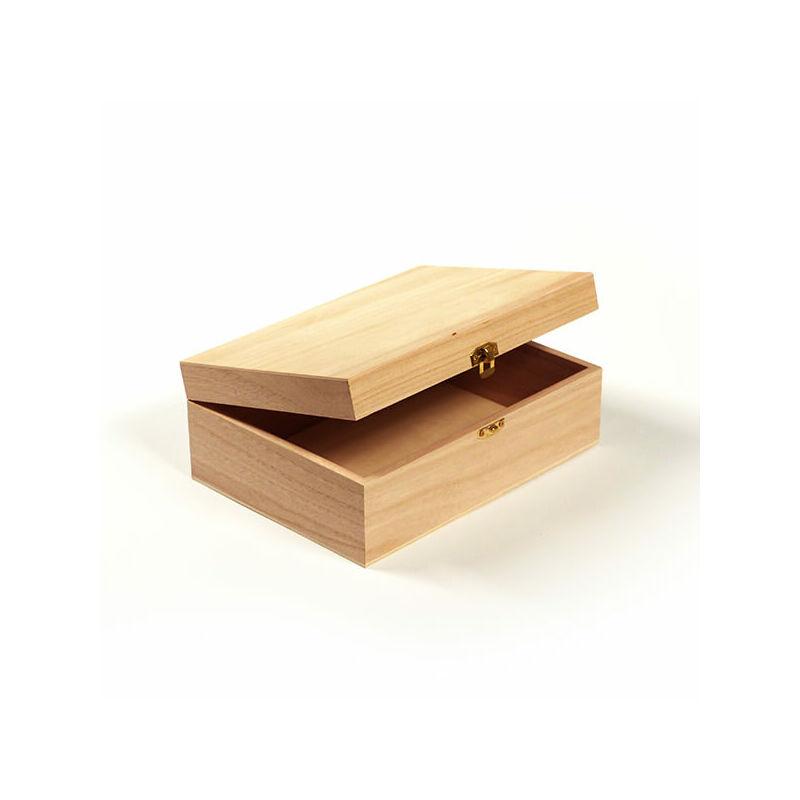 Fa doboz - téglatest rekesz nélkül, 22x16x8 cm