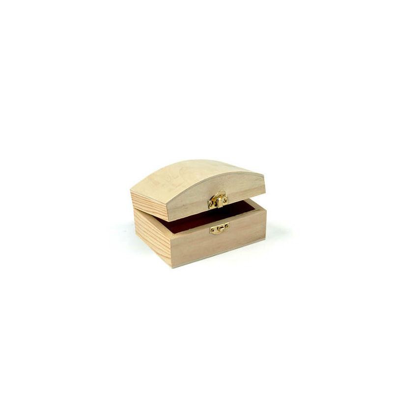 Fa doboz - téglatest, domború, 10x7x6 cm