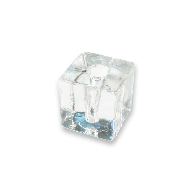 Üveg gyertyatartó, ceruzatartó - 3x3 cm