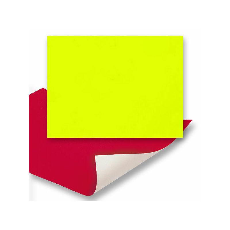 Plakát karton, 48x68 cm - neon sárga