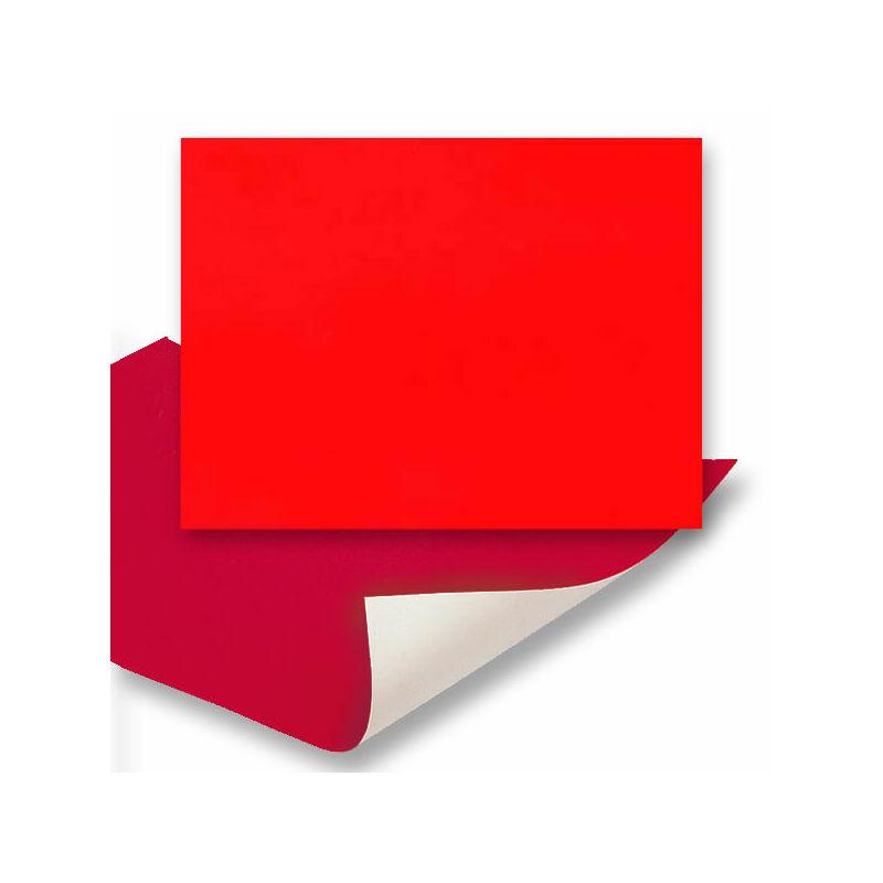 Plakát karton, 48x68 cm - neon piros